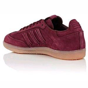 adidas Shoes - ADIDAS Consortium Samba Nubuck Maroon Sneakers